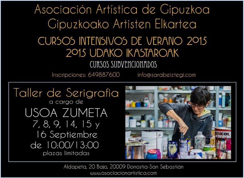 Taller de serigrafía con Uxoa Zumeta