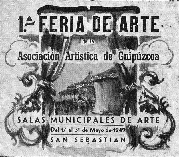 Cartel de la primeria Feria de Arte de nuestra Asociación celebrada en 1949