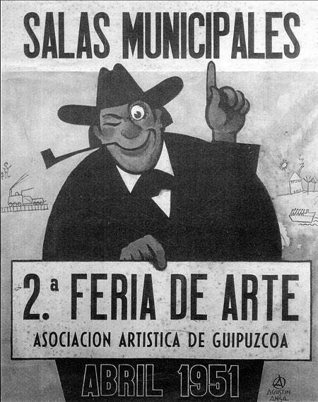 Cartel de la segunda Feria de Arte de la AAG (1951)