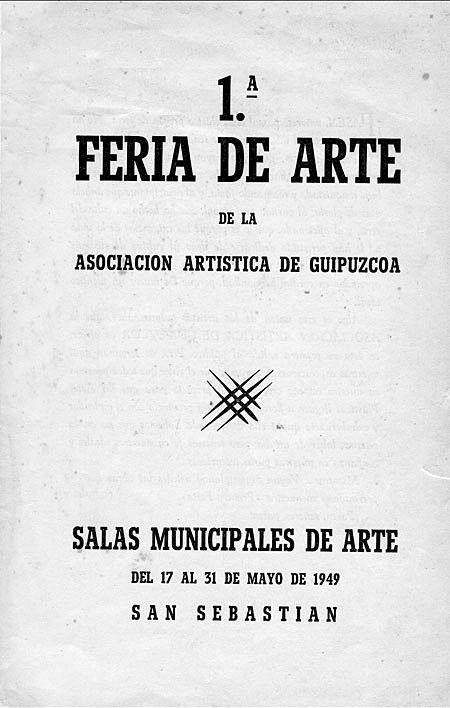 Portada del folleto de la primera Feria de Arte