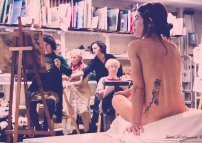 Taller de modelo desnudo femenino