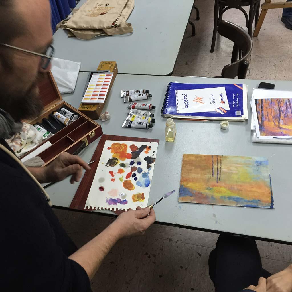 Taller de dibujo y pintura. Asociación Artística de Gipuzkoa