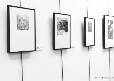 Detalle de exposición de grabado
