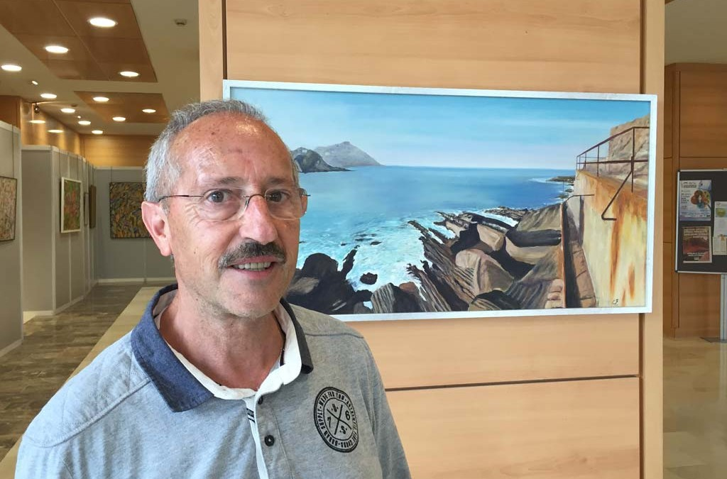 Exposición de Iñaki Badiola en el hall del Hospital Donostia