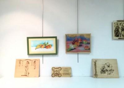 Detalle de una exposición