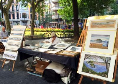 Gabriel en la Feria de Arte de Donostia