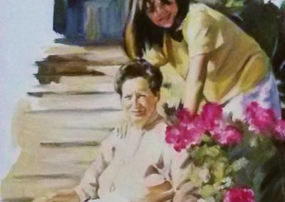 'Boceto de Carla y su abuela'