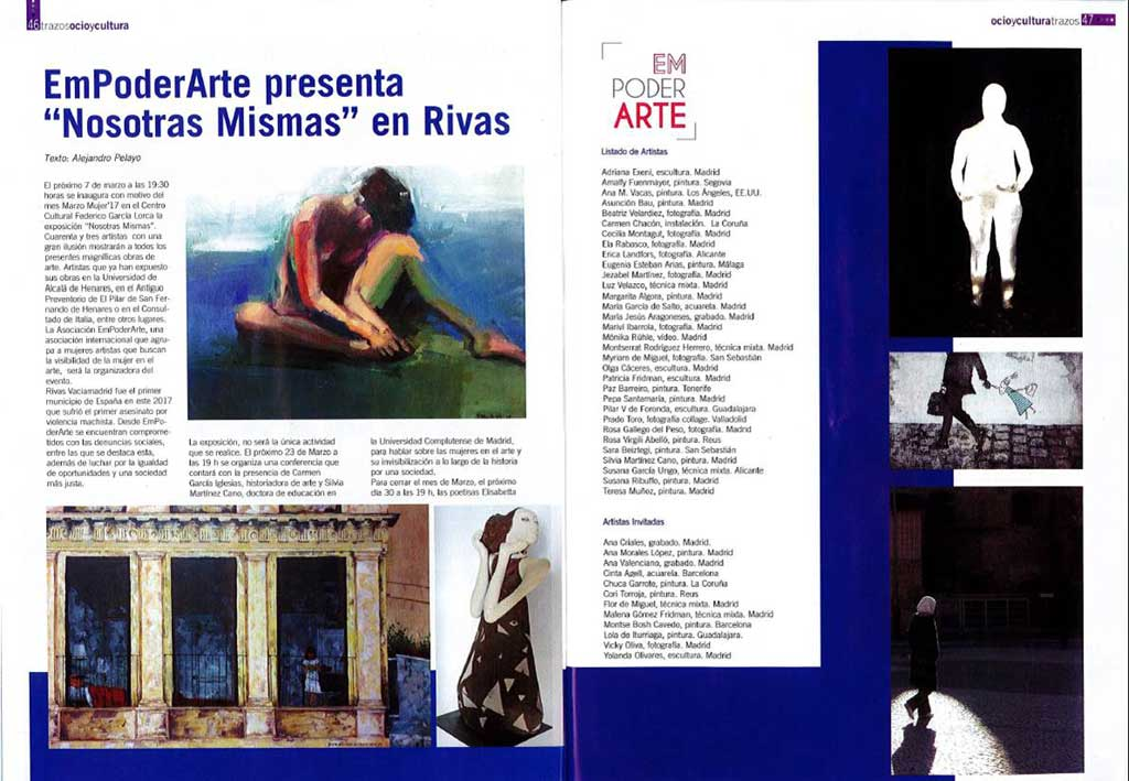 Sara Beiztegi en la colectiva 'Nosotras Mismas' en Rivas Vaciamadrid