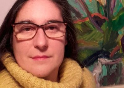 La pintora Cristina Edurne Mendiluze Atenza