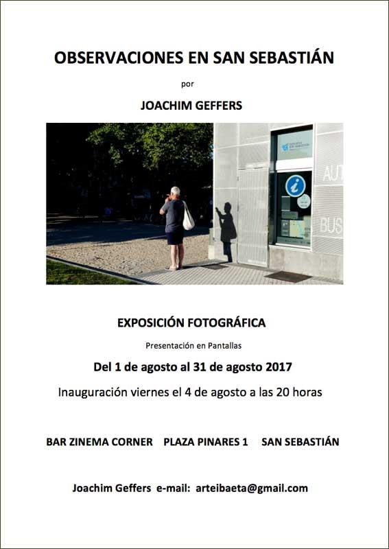 Joachim Geffers, exposiciones de verano