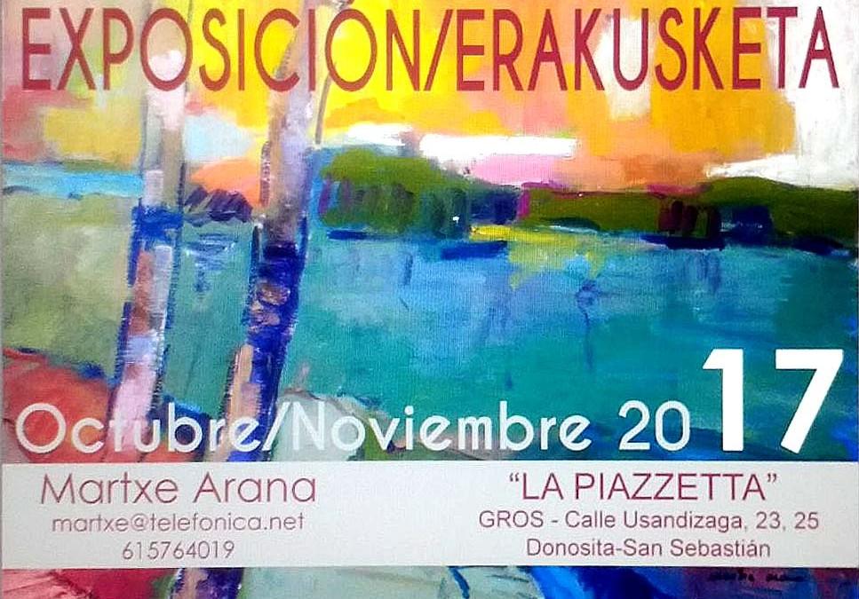 Martxe Arana en 'La Piazzetta' de Gros