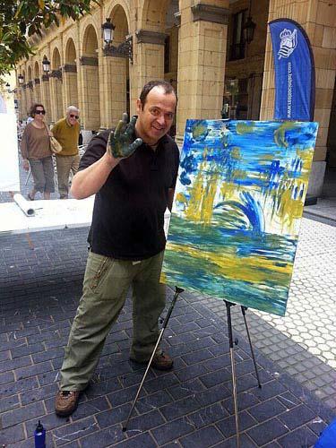 Santi Bosch trabajando en el Kutxa Kultur Hiria