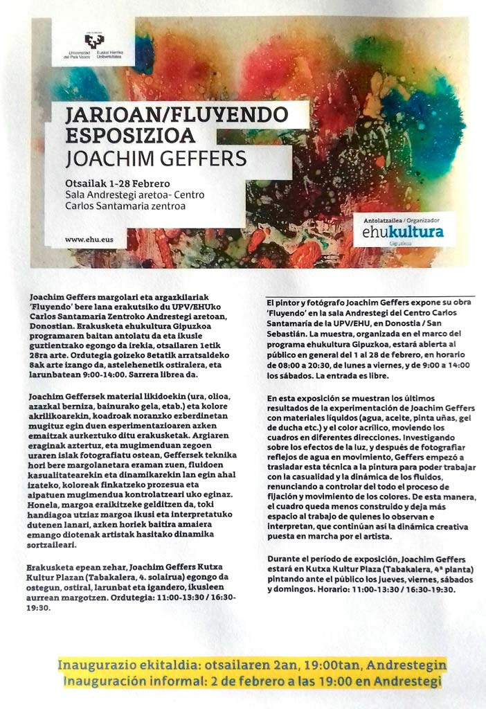 Exposiciones de Joachim Geffers en febrero de 2018