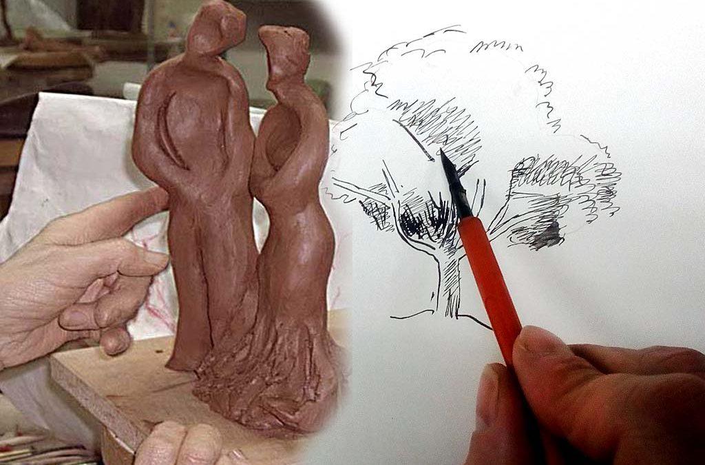 Exposición de los talleres de dibujo y modelado