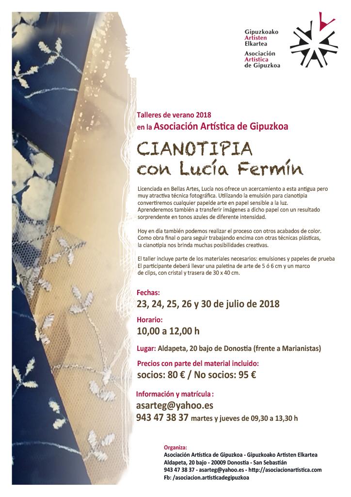 Talleres de arte, verano 2018 - Asociación Artística de Gipuzkoa ...