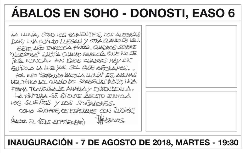 Exposición de Ábalos en Soho de Donostia
