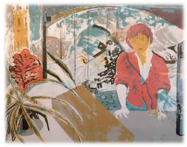 Obra gráfica de Aurora Bengoechea en Donebastian Bistro