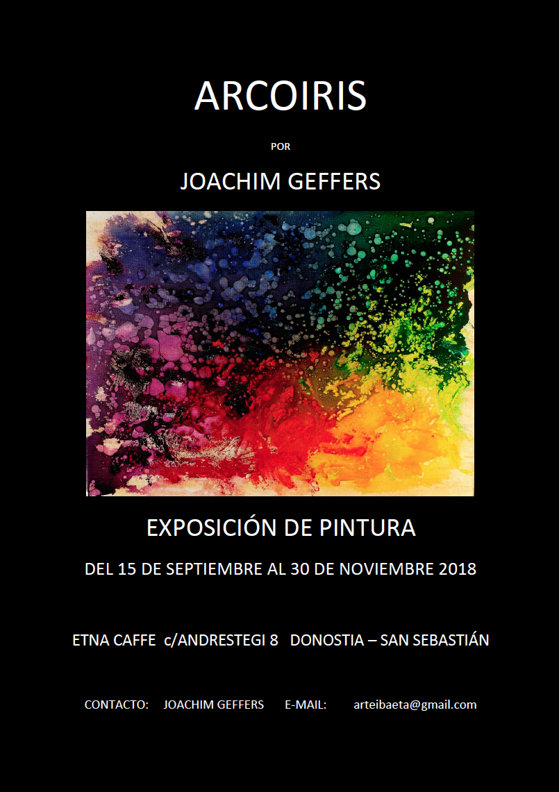 Nueva exposición de Joachim Geffers