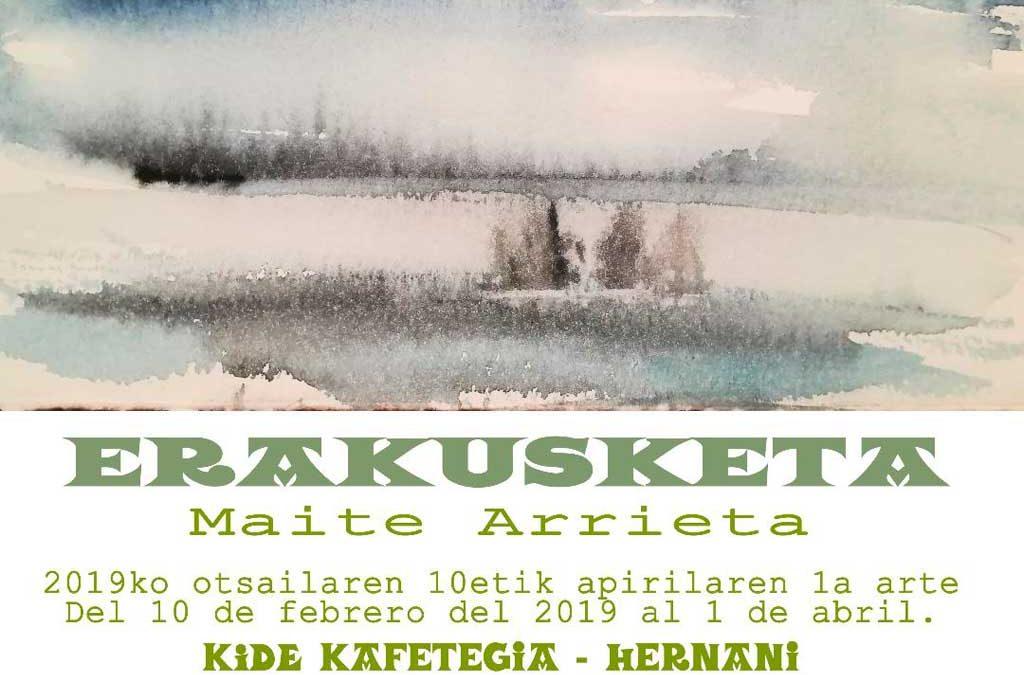 Maite Arrieta en Kide Kafetegia