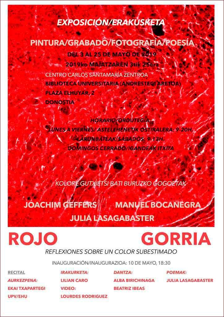 GORRIA - ROJO! La exposición