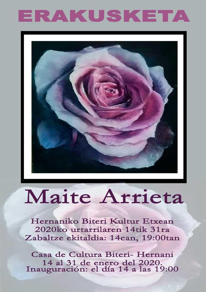 Maite Arrieta en Biteri Kultur Etxea de Hernani