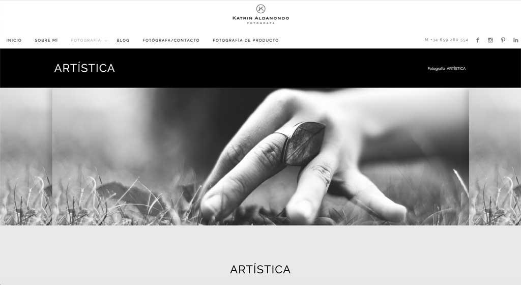Katrin Aldanondo. Fotografías en el Hall de la Artística