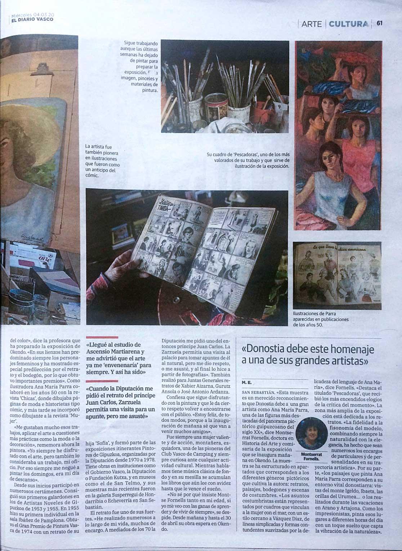Exposición homenaje a Ana María Parra en Okendo