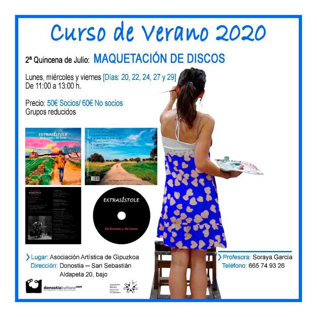 Cursos de verano 2020 en la Asociación Artística