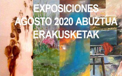 Exposiciones Agosto 2020 Abuztua