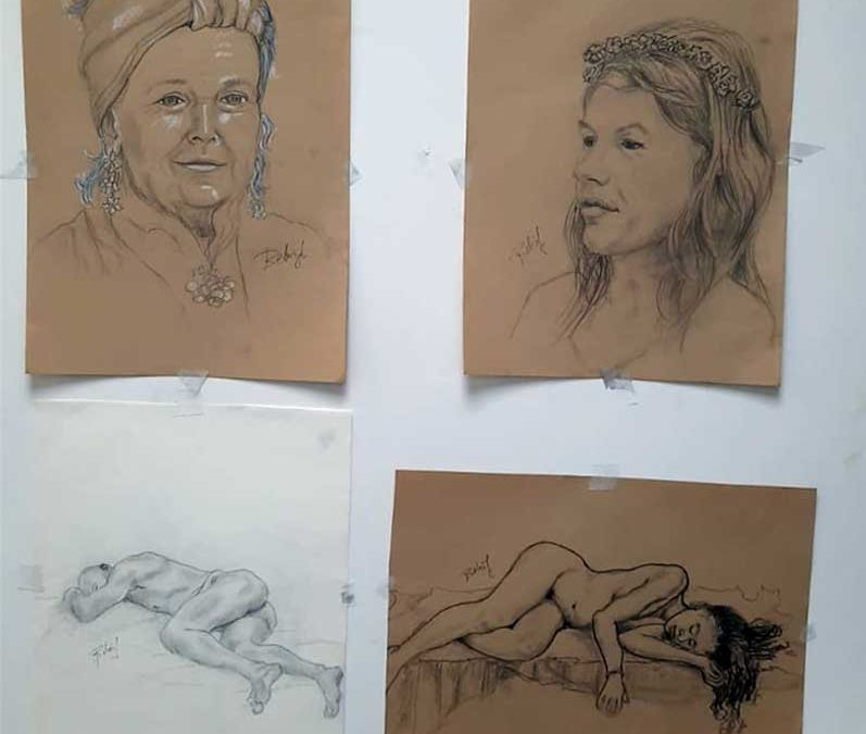 Exposición desnudo y retrato