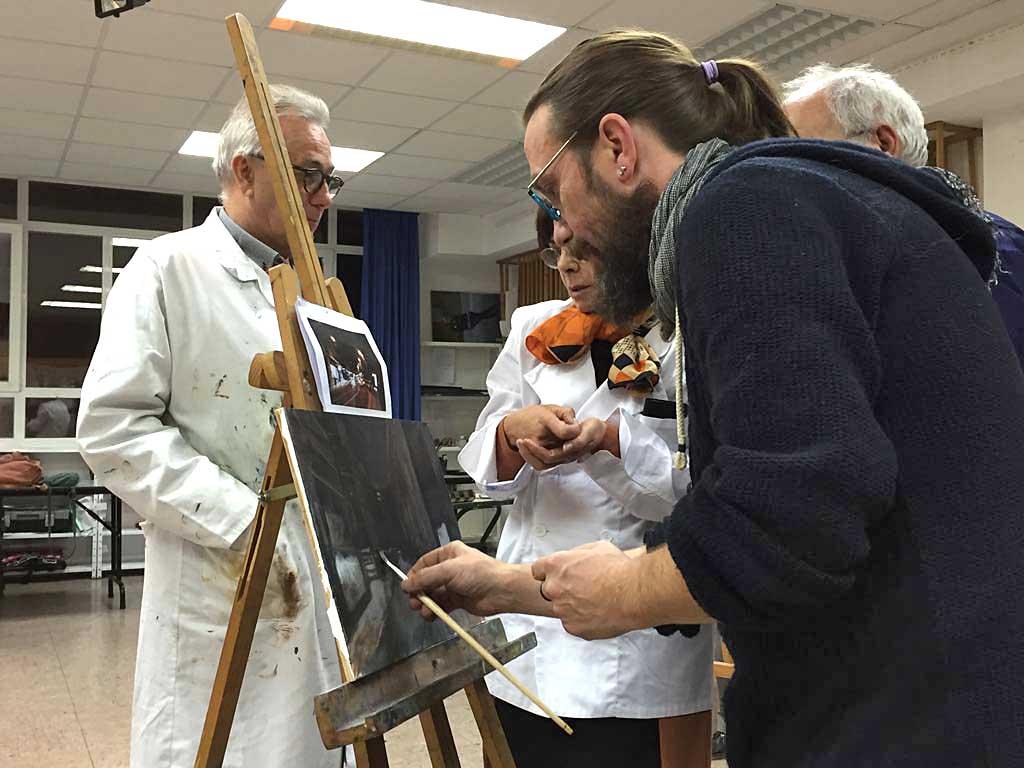 Exposición del taller de dibujo y pintura. Asociación Artística de Gipuzkoa