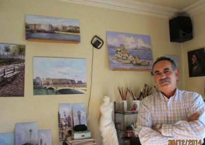 Ángel Máñez en su estudio