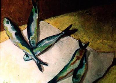 Carmen Aguado - Sardinas en papel