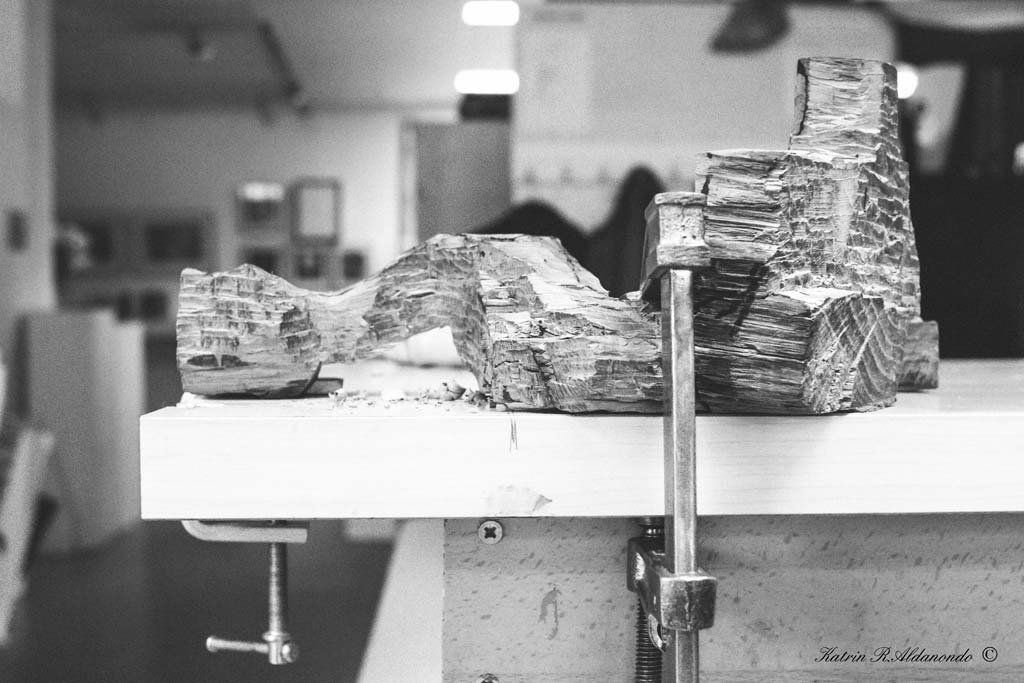 Taller de talla en madera asociacion Gotzon Huegun