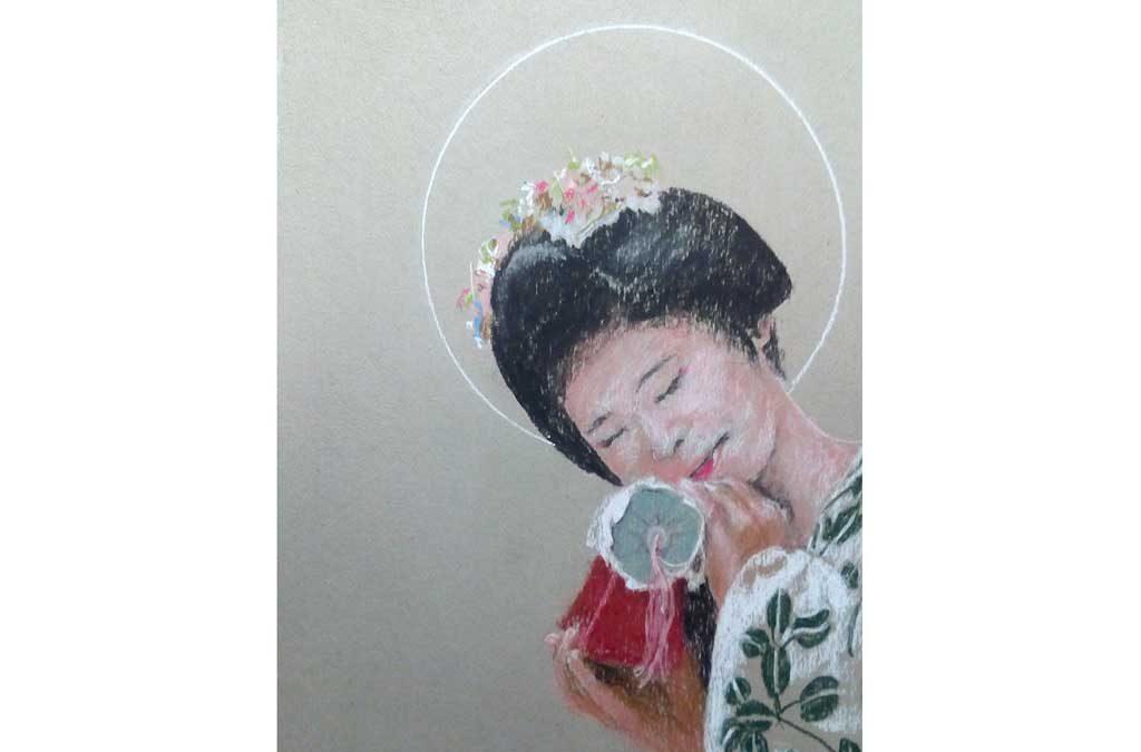 Retrato y dibujo de manos con Rotaeche