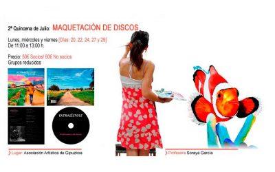 Diseño gráfico: maquetación de discos por Soraya García