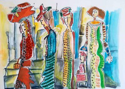 txus-sanz-9-Mujeres-Tinta-y-acuarela